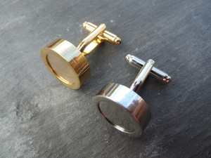 Screw-top Photo Cufflinks - Gold or Silver