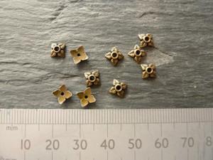 Four Leaf Bead Caps