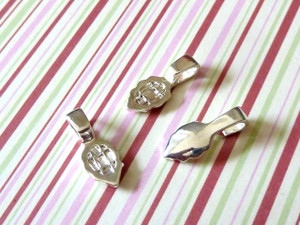 Little Leaf Bails - Silver Plated