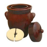 K & K Keramik German Fermenting Crock Pot, F2 16L (4.2 Gal)