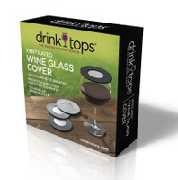 Drink Tops™ Ventilated Wine Covers 4-pack Gift Box