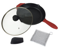 Cast Iron Skillet Set (Pre-seasoned), 12""