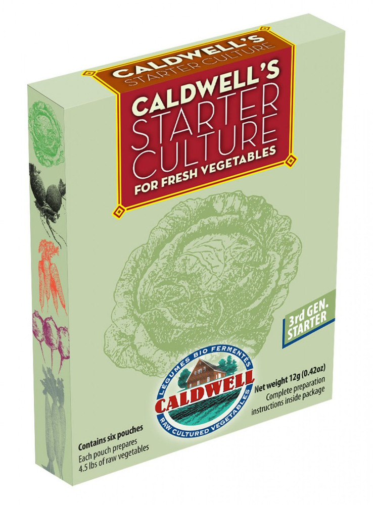 Caldwell's Starter Culture for Vegetables: 6 Pouches