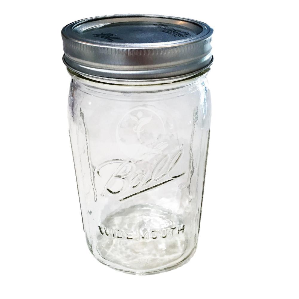 ONE QUART MASON JAR 950ML WITH BPA FREE LID CAP AND RING