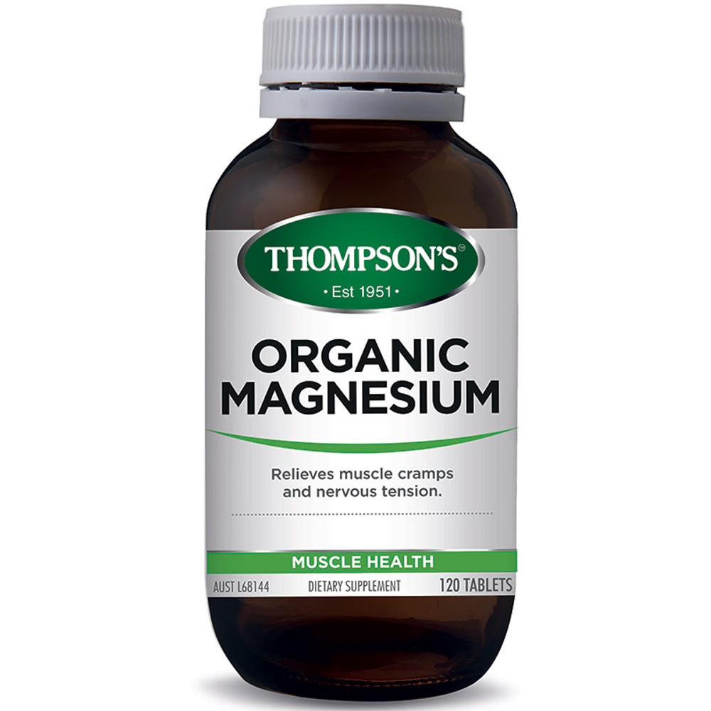 Organic Magesium Tablets: 120 Tablets