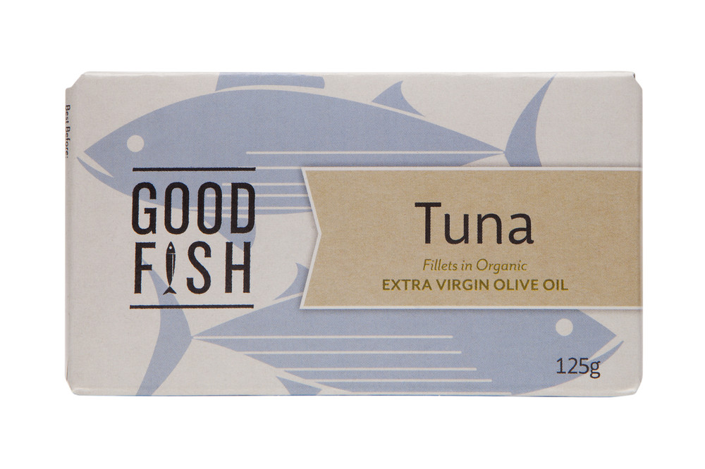 KIPJACK TUNA Fillets in Organic Extra Virgin Olive Oil 125g CAN
