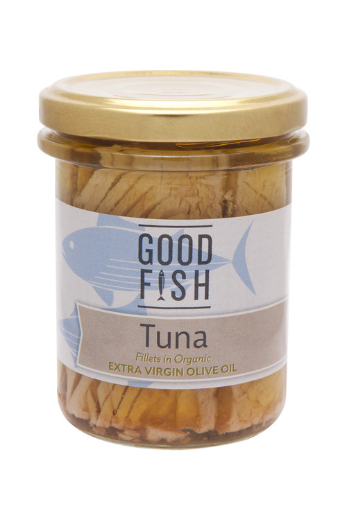 SKIPJACK TUNA Fillets in Organic Extra Virgin Olive Oil 195g Glass Jar