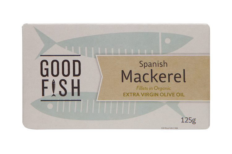 SPANISH MACKERAL Fillets in Organic Extra Virgin Olive Oil 125g CAN