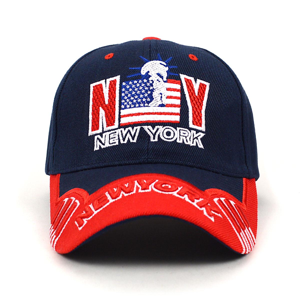83538cba69600 NY Flag Navy Blue 3D Embroidered Baseball Cap