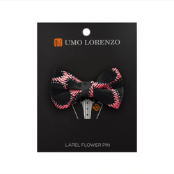 258b3140da6 Pink Honey Comb Poly Bow Lapel Pin B10156-PK