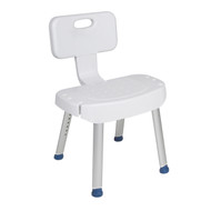 Bathroom Safety Shower Chair with Folding Back By Drive