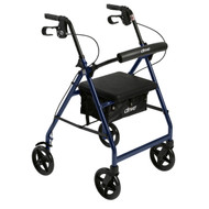 Aluminum Rollator with Fold Up and Removable Back Support and Padded Seat By Drive
