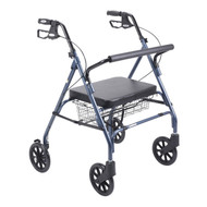 Heavy Duty Bariatric Walker Rollator with Large Padded Seat By Drive