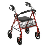 Four Wheel Walker Rollator with Fold Up Removable Back Support By Drive