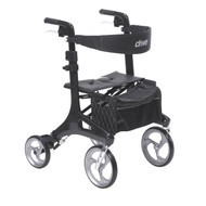 Nitro Elite CF Carbon Fiber Walker Rollator, Black By Drive