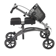 Dual Pad Steerable Knee Walker with Basket, Alternative to Crutches By Drive