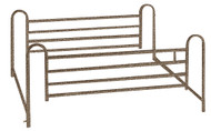 Full Length Hospital Bed Side Rails, 1 Pair By Drive