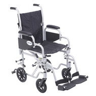 Poly Fly Light Weight Transport Chair Wheelchair with Swing away Footrest By Drive