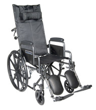 Silver Sport Reclining Wheelchair with Elevating Leg Rests By Drive