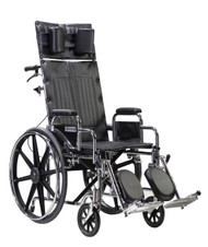 "Sentra Reclining Wheelchair, Detachable Desk Arms, 22"" Seat By Drive"