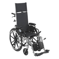 Viper Plus Light Weight Reclining Wheelchair with Elevating Leg rest and Flip Back Detachable Arms By Drive
