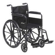 Silver Sport 1 Wheelchair with Full Arms and Swing away Removable Footrest By Drive