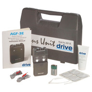 Portable Dual Channel TENS Unit with Electrodes and Carry Case By Drive