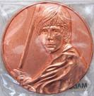 Star Wars California Lottery Exclusive Luke Skywalker Metal Coin