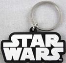 Star Wars Black & White SW Logo Rubber Key Chain