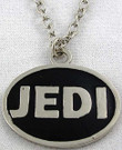 Star Wars Jedi Logo Metal Chrome / Black Color Pendant Necklace