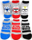 Star Wars 6 Pack Kids Low Socks Size 4-6 Clone Troopers