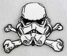 Star Wars Stormtrooper Cross Bones Embroidered Patch
