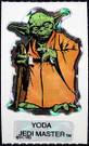 1983 Star Wars ROTJ Vending Machine Prism Yoda Sticker