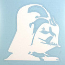 Star Wars Darth Vader Profile White Vinyl Window Decal