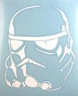 Star Wars Stormtrooper White Vinyl Window Decal