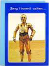 1977 Star Wars C-3PO Sorry I Haven't Written Greeting Card