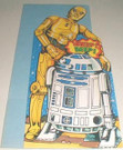 """1978 Star Wars Droids """"About your malfunction"""" Die Cut Card"""