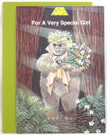 """1984 Star Wars Ewok """"For a Very Special Girl"""" Card"""