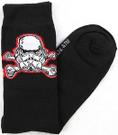 Star Wars Stormtrooper Cross Bones Men's Crew Socks Size 10-13