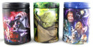 Star Wars Set of 3 Darth Vader, Boba Fett, Yoda Round Tin Coin Banks
