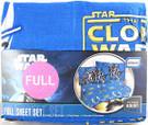 Star Wars Clone Wars Sheet Set (1 Flat, 1 Fitted, 2 Pillowcases) Full.