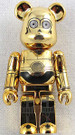 Star Wars Medicom C-3PO Bearbrick Mini Figure