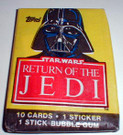1983 Star Wars ROTJ Topps Series 1 Sealed Wax pack w/Darth Vader