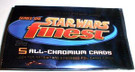 Star Wars Topps Finest Empty Blue Foil Wrapper