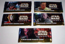 Star Wars Topps Ep1 Series 1 Set of 5 Empty Wrappers