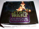 Star Wars Topps Chrome Archives Empty Display Box