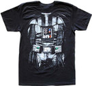 Star Wars Men's Darth Vader Body Costume Black T-Shirt Size L