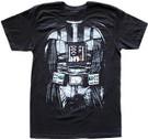 Star Wars Men's Darth Vader Body Costume Black T-Shirt Size 2XL