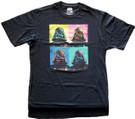 Star Wars Men's Darth Vader Squares Black T-Shirt Big & Tall Size XLT