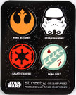 2014 Star Wars SD Comic Con Set of 4 Stickers Rebel, Storm, Imperial, Boba Fett